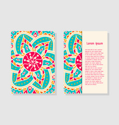 Card templates with mandala vector