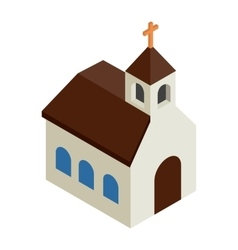 Catholic church isometric 3d icon vector image