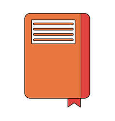 closed notebook with page marker icon image vector image vector image