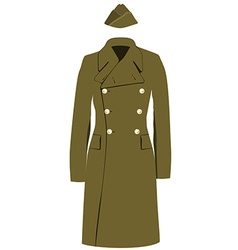 Coat and forage cap vector image
