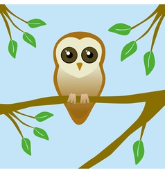 Cute barn owl vector