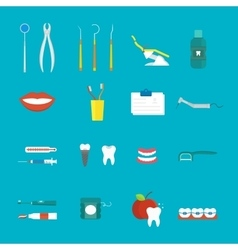 Dental hygiene medical concept flat style with vector image vector image