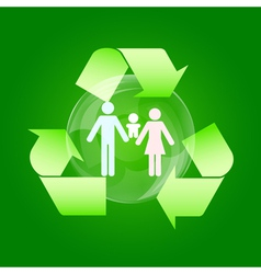 eco family vector image