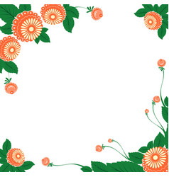 Frame with floral ornaments in the slavic vector