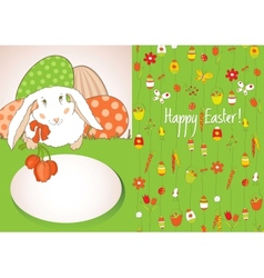 green card with easter eggs vector image