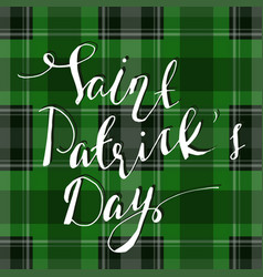 Handwritten saint patricks day greetings vector