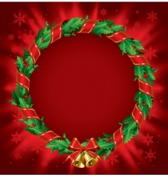 holly wreath vector image vector image