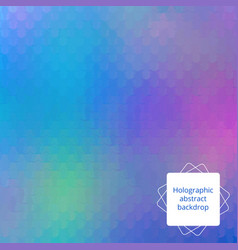 Holographic editable design vector