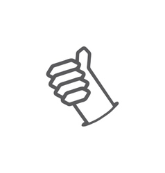 Like buttonThumb up hand symbol vector image