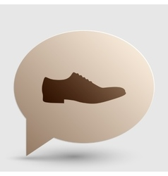 Men shoes sign brown gradient icon on bubble with vector