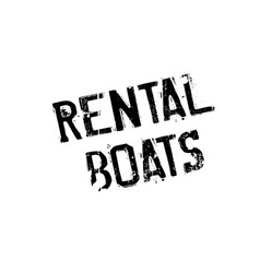 Rental boats rubber stamp vector