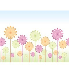 Seamless flower background vector image vector image
