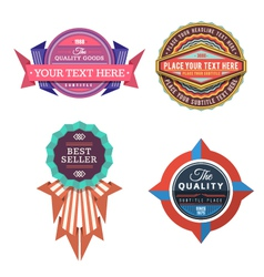 Set of logo retro labels and vintage style vector
