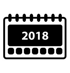 Simple 2018 calendar icon vector