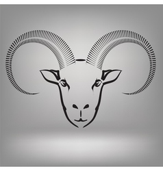 symbol of goat vector image vector image