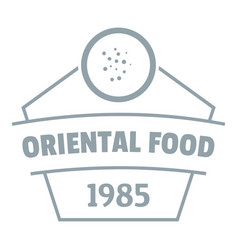 Traditional oriental food logo simple gray style vector