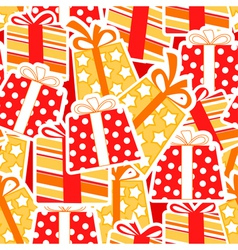 Gift boxes seamless background vector