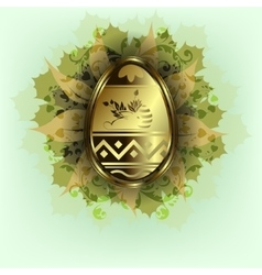 Easter egg with rabbit vector