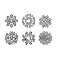 circular pattern set round ornament vector image