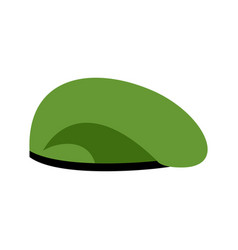 Beret military green soldiers cap army hat war vector