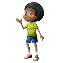 A young boy vector