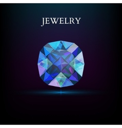 Jewelry gemstone vector