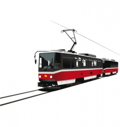 city tram vector image