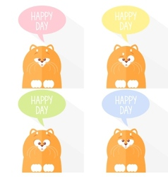 cats funny set vector image