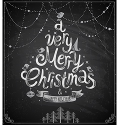 Christmas chalkboard card vector