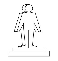 3d model of a man icon outline style vector image