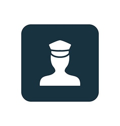 Policeman icon rounded squares button vector
