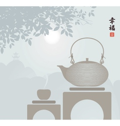 China tea vector image
