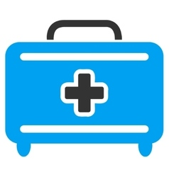 Medical baggage icon vector