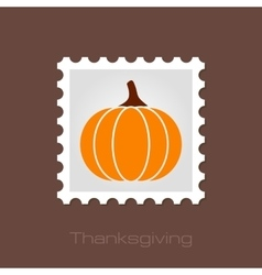 Pumpkin stamp harvest thanksgiving vector
