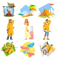 Travel and vacation colourful vector