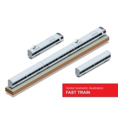 Modern high speed train isometric vector