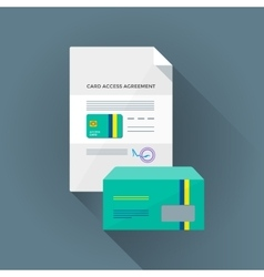 Colorful conditional card access set vector