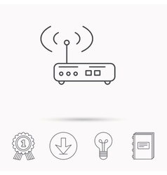 Wi-fi router icon Wifi wireless internet sign vector image