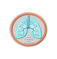 World pneumonia day - november 12 lungs baner vector