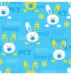 Seanless pattern with cute bunny vector