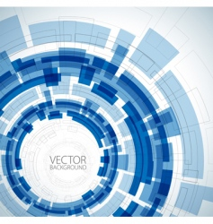 abstract blue technical background vector image vector image