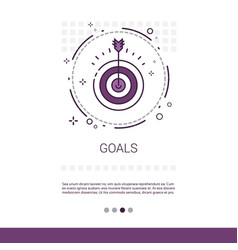 Archery goal business target banner with copy vector