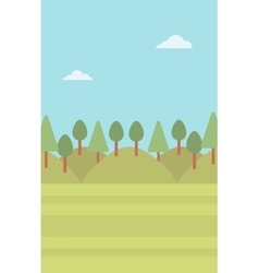 Background of green forest vector