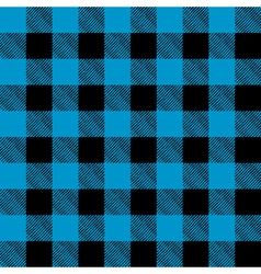 Blue and Black Flannel Background vector image