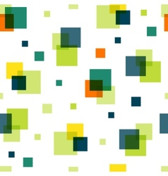 Bright overlapping squares modern seamless pattern vector