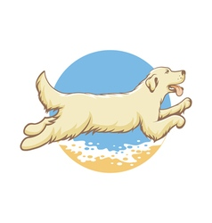 Dog of the sea vector