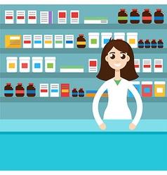 Female pharmacist vector