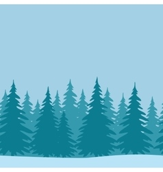 Fir Trees Seamless Landscape vector image vector image