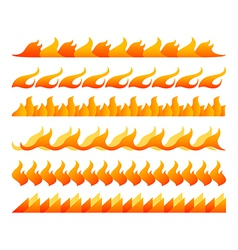 Fire design elements set vector image vector image