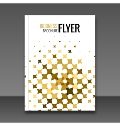 Gold flyer design template greeting card design vector